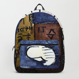 Street with house and white cloud - Joaquin Torres Garcia Backpack