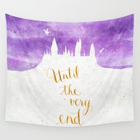 snape Wall Tapestries featuring Until the very end by Earthlightened