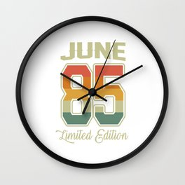 Vintage 35th Birthday June 1985 Sports Gift Wall Clock