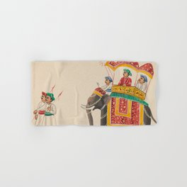 Decorated Indian Elephant with a Canopied Howdah Hand & Bath Towel