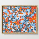 Stained glass colorful voronoi with fillet, vector abstract. Irregular cells background pattern. 2D by fbatista72