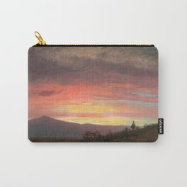 Frederic Edwin Church - Twilight, Mount Ktaadn - Hudson River School Oil Painting Carry-All Pouch