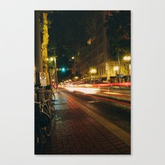 Portland Lights at Night Canvas Print