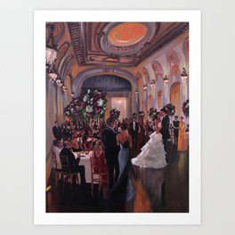 Ally & Jeff at The Bourne Mansion Art Print