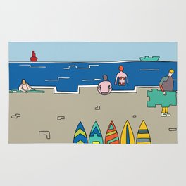 Afternoon at the beach (b) Rug