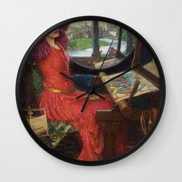 I am Half-Sick Of Shadows Lady of Shalott By John William Waterhouse Wall Clock