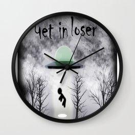 Retro Vintage Get In Loser Alien Gift Funny design Wall Clock