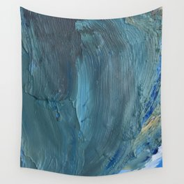 Turquoise Paint Wall Tapestry