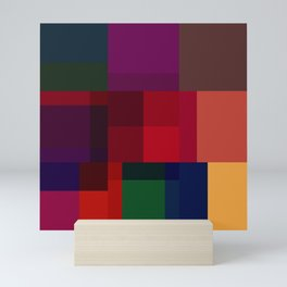 Jewel tones abstract geometric I Mini Art Print