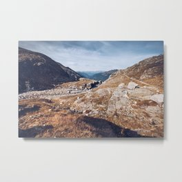 Grey Mountains Metal Print