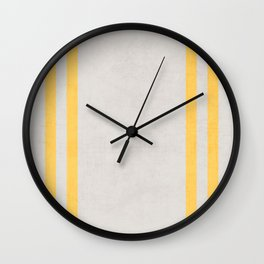 french linen - yellow Wall Clock