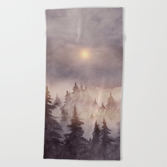 Into The Forest III Beach Towel