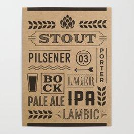 Type beer Poster