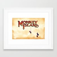 monkey island Framed Art Prints featuring Monkey Island - Treasure found! by Sberla