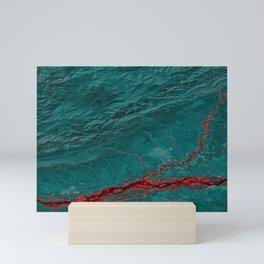 Maroon Ravine - Earth Art Mini Art Print