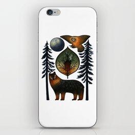 The Bear and the Barn Owl iPhone Skin