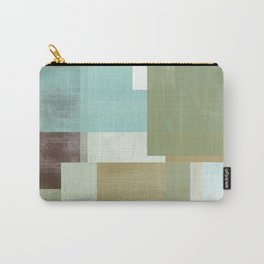 Modern Abstract No. 5    Aqua, Chocolate, Sage + Mocha Carry-All Pouch