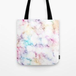 Rainbow Marble Pattern Tote Bag