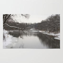 Winter on the River Rug