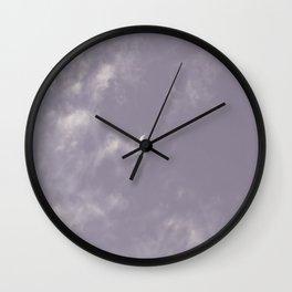 purple night · moon Wall Clock