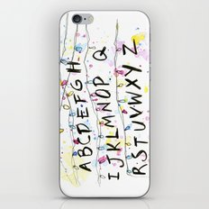 Stranger Things Alphabet Wall Christmas Lights Typography iPhone & iPod Skin