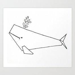 Very whale! Art Print