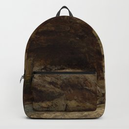 """Gustave Courbet """"Grotto of Sarrazine near Nans-sous-Sainte-Anne"""" Backpack"""