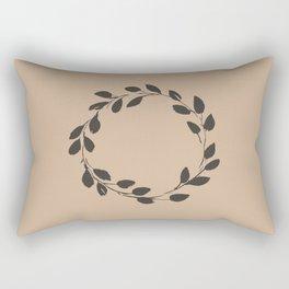Simple Wreath on Hazelnut Rectangular Pillow