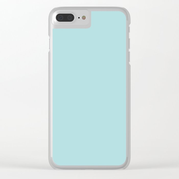 Robin's Egg Aqua Blue Clear iPhone Case