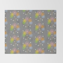 Blooming Flowers Throw Blanket