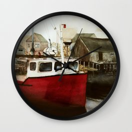 Tranquility - Watercolor Painting Wall Clock