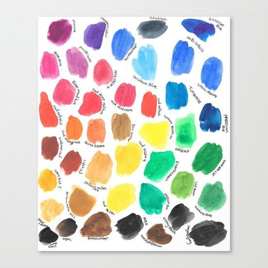 Colour Palette  Canvas Print