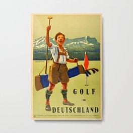 Vintage poster - Golf in Deutschland Metal Print