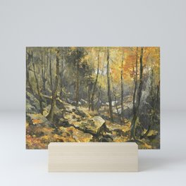 Autumn Forest Painting Mini Art Print