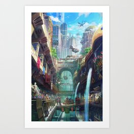 Royal City Escadia  Art Print