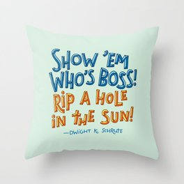 Dwight K. Schrute Throw Pillow