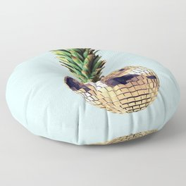 Ananas party (pineapple) blue version Floor Pillow