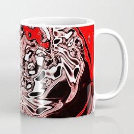 Red Black White Abstract Coffee Mug