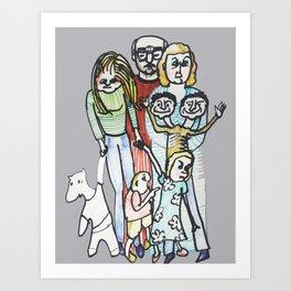 Weird Family Art Print