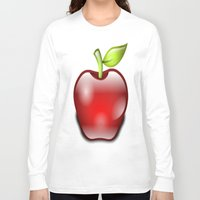 apple Long Sleeve T-shirts featuring APPLE by Acus