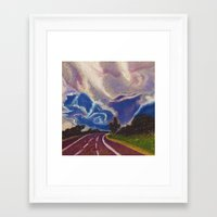 road Framed Art Prints featuring Road by Shazia Ahmad