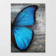 Butterfly Blue Wing Canvas Print