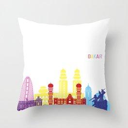Dakar skyline pop Throw Pillow