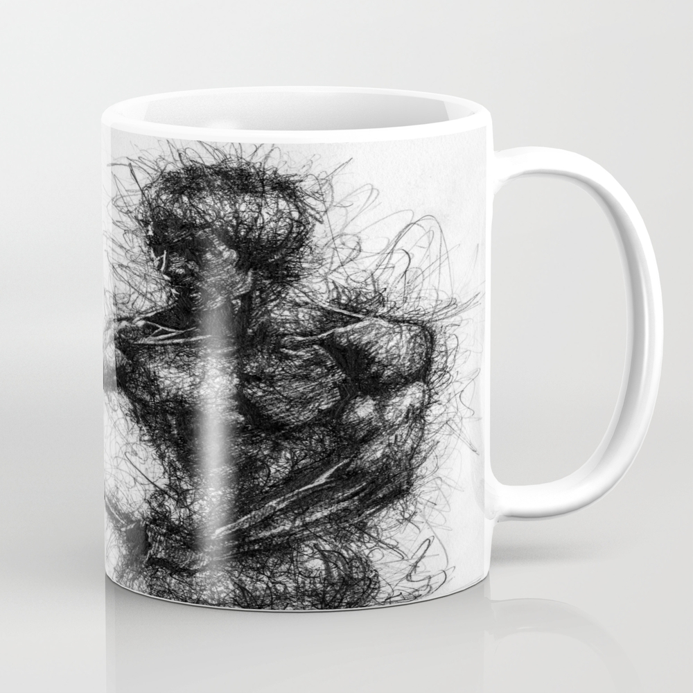 Bruce Kung Fu Master Lee, Drawing, Wall Art, Kung … Mug by Juliolucas MUG8502345