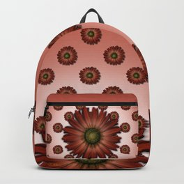 """""""Big Red Daisy, (pattern)"""" Backpack"""