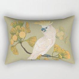 Cockatoo and Ginkgo Tree Rectangular Pillow