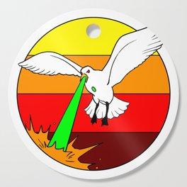 Laser Seagull Funny Retro Seagull Design Cutting Board