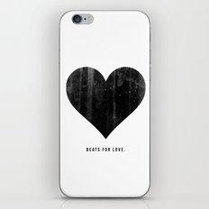 Beats for Love. iPhone & iPod Skin