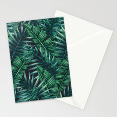 Palm and Banana Leaf Tropical Pattern Stationery Cards