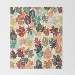 Autumn Leaves 2 Throw Blanket